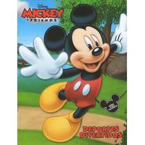 Libro Para Colorear Tamaño Carta Mickey (paquete 10 Piezas)
