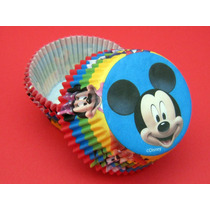 Mickey Mouse Fiesta Decoracion Pastelitos Capacillos Vasitos