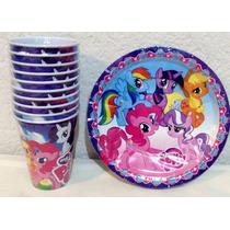 My Little Pony Vasos O Platos 10 Pzas Fiesta Hasbro Junior