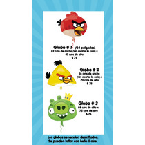 Todo Para Tu Fiesta De Angry Birds. Envío A $ 45 Pesitos.