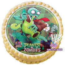 Oblea Para Pastel Plantas Vs Zombies. Todo Para Tu Fiesta.