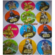 Aa Star Wars 4 Docenas De Botones Fiesta