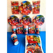 Paquete Básico Fiesta The Avengers Desechables Fiesta