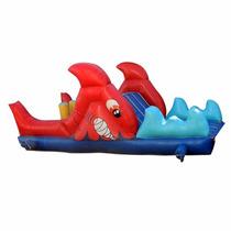 Brincolin Acuatico Escaladora Tiburón 3x8m