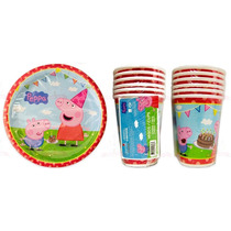 Peppa Pig & George Platos Pasteleros O Vasos Fiesta Original
