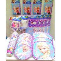 Paquete Plus 2 Elsa Frozen , Desechables Fiesta.