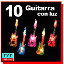 10 Guitarra Inflable Con Luz Led Eventos Fiesta Batucada