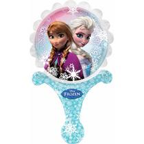 5 Globos Metálicos De 9 Pulgadas, Frozen Ana Y Elsa, Fiesta