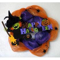 Halloween Corona Vara Sombrero Bruja Día De Muertos