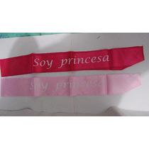 Banda De Tela Soy Princesa Para Fiestas Eventos Paq 12pzas