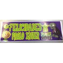 Plantas Vs Zombies Letrero Personalizado