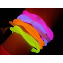 100 Pulseras Luminosas Cyalume Glow Neon ¡super Brillantes!