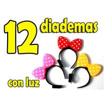 12 Diademas Con Luz Moño De Mimi Mouse Disney