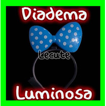 10 Diademas Luminosas Moño Mimi Minnie Led Colores Mini