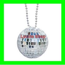 12 Collares De Bola De Disco Grande Fiesta Batucada Evento