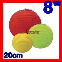10 Pantallas Chinas 8 20 Cm Varios Colores Linterna Lampara