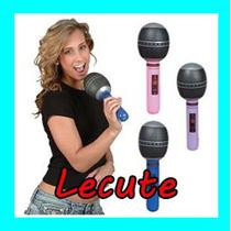 10 Microfonos Inflables Fiesta Evento Karaoke Batucada