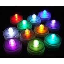 12 Velas Led Sumergible Multicolor Centros De Mesa Luz