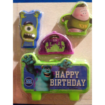 Juego De 4 Velas Para Pastel Monsters University