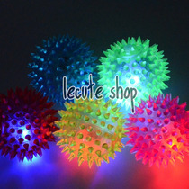 12 Pelotas Luminosas Luz Led Picos Multicolor Fiesta Regalo
