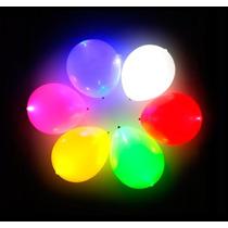 10 Globos Con Luz Led, Lamparas Chinas, Articulos Fiesta