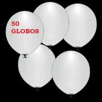 50 Globos Con Luz Led Blancos Para Boda Xv Años Bautizo