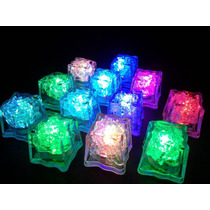 12 Cubos Hielos Luminosos Led Sumergibles Antro Bar Fiestas