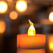 24 Vela Luz Led Amarillo Ambar P/ Decoración Bodas Eventos