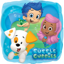 Globo Bubble Guppies Paq 6 Pzas Medida 18 Pulgadas Helio