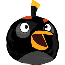 Globo Angry Birds Paq 3 Pzas Jumbo 28 Pulgadas Para Helio