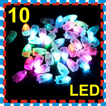 10 Luz Led Lampara China Papel Globo Pantalla Boda Xv Jardin