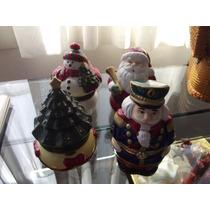 Cajas Musicales 4 Pzas Santa Claus,arbol,muñeco Nieve,casca