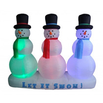 Inflable Iluminable De Navidad Muñeco De Nieve 6 Pies Altura