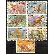 Vietnam Dinosaurio Animales Prehistórico Serie 7 Sellos
