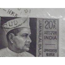 Sello Postal India Jamnalal Bajaj 1970