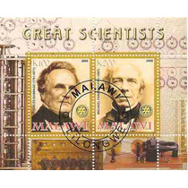Charles Babbage Michael Faraday 2 Estampillas Lqe