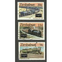 Estampillas De Trenes De Zimbabwe,