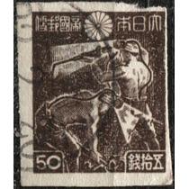 2323 Japón Scott # 358 Minero 50s Usado 1945-47