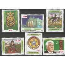 Turkmenistan Primera Emisión 1992 Teatro Costumbres Bandera