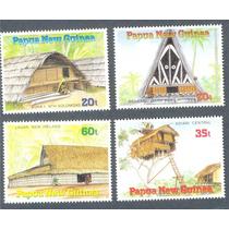 Papua Nueva Guinea Arquitectura Casas Autóctonas