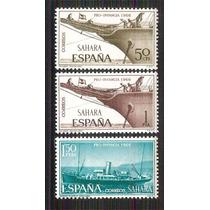Sahara Protectorado España 1966 Barco, Vapor 3 Sellos Mnh