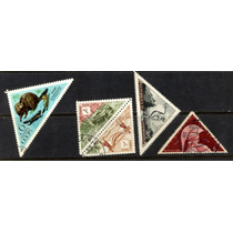0396 Triangulares Dif Países 5 Sellos C T O N H Modernos
