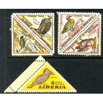 0394 Triangulares Pájaros 5 Sellos Mint N H Modernos