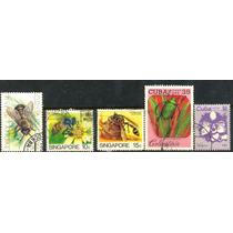 0440 Insectos Dif Países 5 Sellos Usados N H Modernos