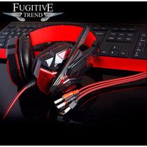 Diadema Gamer Pro Usb Microfono Highsound Luz Led 2.2 Nylon