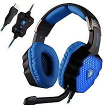 Sades A70 7.1 Surround Sound Stereo Usb Gaming Headset Sobre
