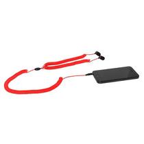 Cable Teléfono Retro Auriculares - Estilo Curly Cable Rojo