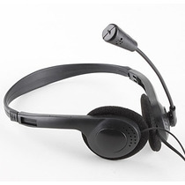 Audífono Diadema Microfono Ultra Delgada Ajustable Pc Laptop