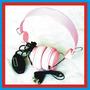 Audifonos Almohadillas Rosa Suaves Mp3 Dj 3.5 Mm Audio