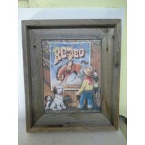 Cuadro Decorativo De Rodeo Rustico